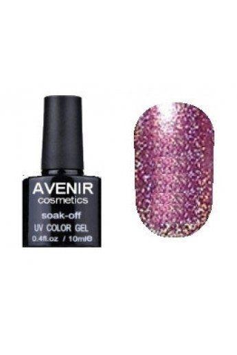 Авенир Cosmetics  Гель-лак для ногтей 10мл №156 сиренево-розовая голография