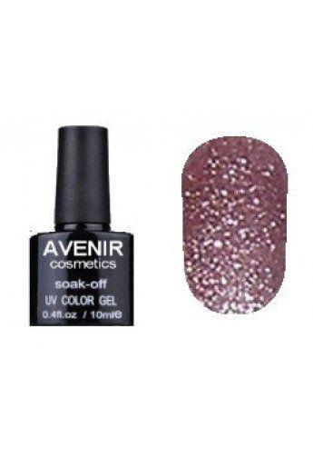 Авенир Cosmetics  Гель-лак для ногтей 10мл №153 кофейно-розовая голография