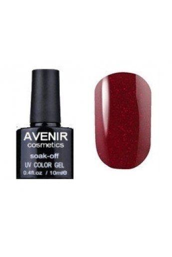 Авенир Cosmetics Гель-лак для ногтей 10мл №183 вишневая парча с золотой пылью