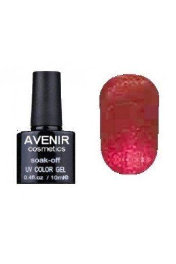 Авенир Cosmetics Гель-лак для ногтей 10мл №144 бордовая парча