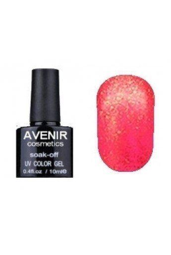 Авенир Cosmetics Гель-лак для ногтей 10мл №142 клюква с бриллиантовой пылью